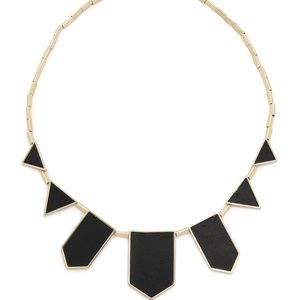 House of Harlow stingray embossed station necklace
